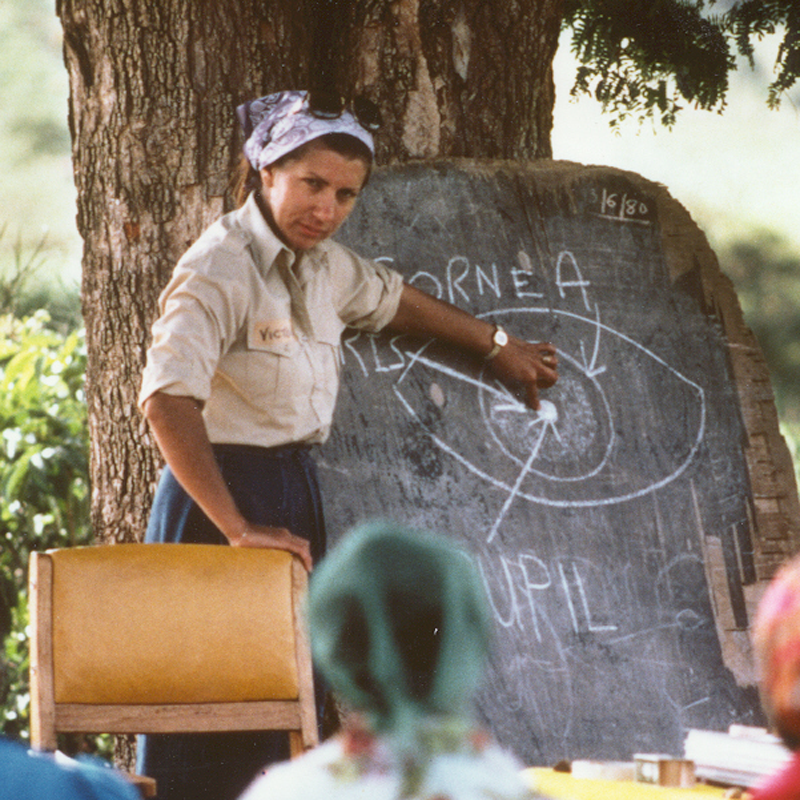 1980 Victoria Sheffield training in Kenya