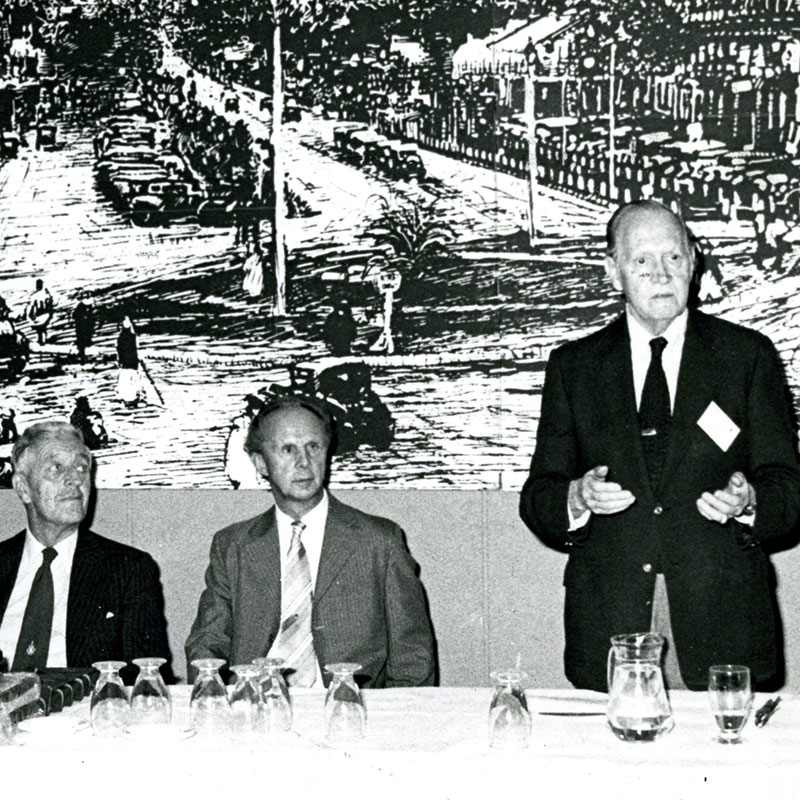 1990 Dr. JH King, Jr. at IV World Congress, Nairobi with Sir John Wilson