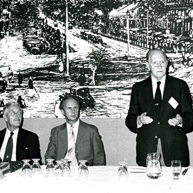 1990 Dr. JH King, Jr. at IV World Congress, Nairobi with Sir John Wilson