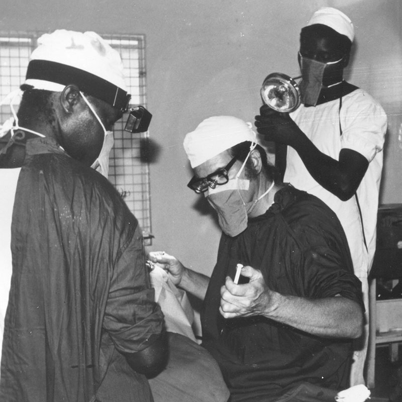 1974 Dr Randy Whitfield in Kenya mobile surgical.
