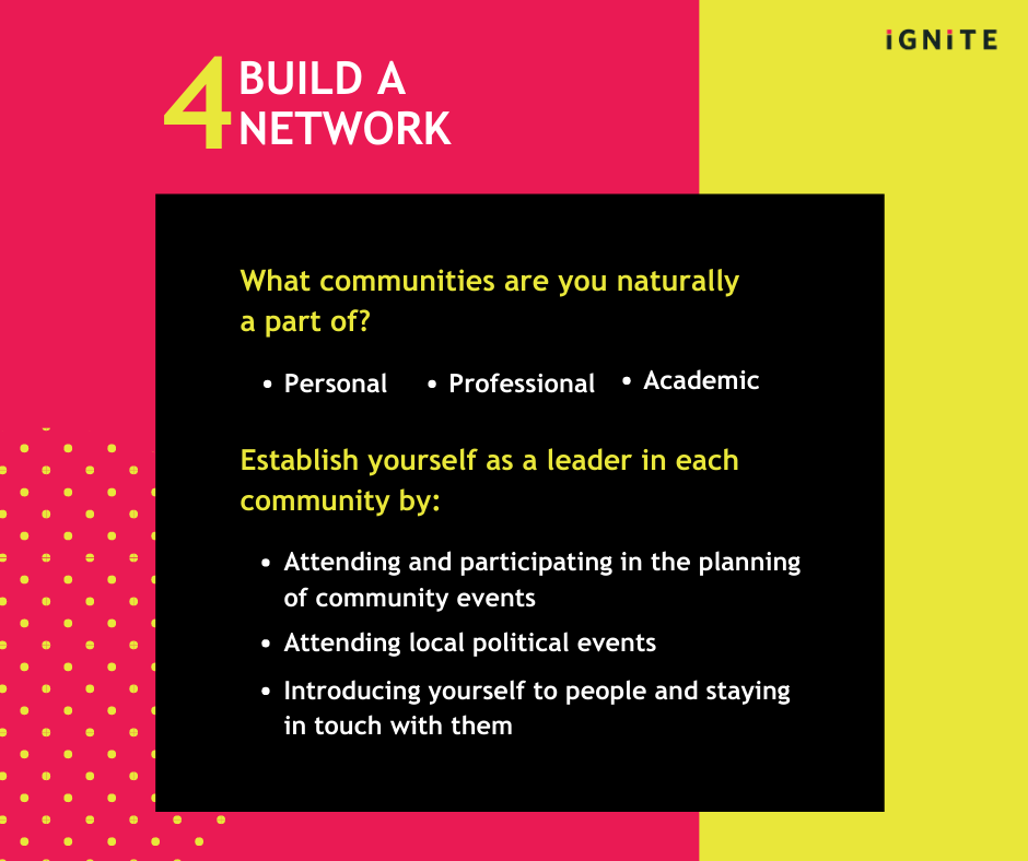 Build a broad network