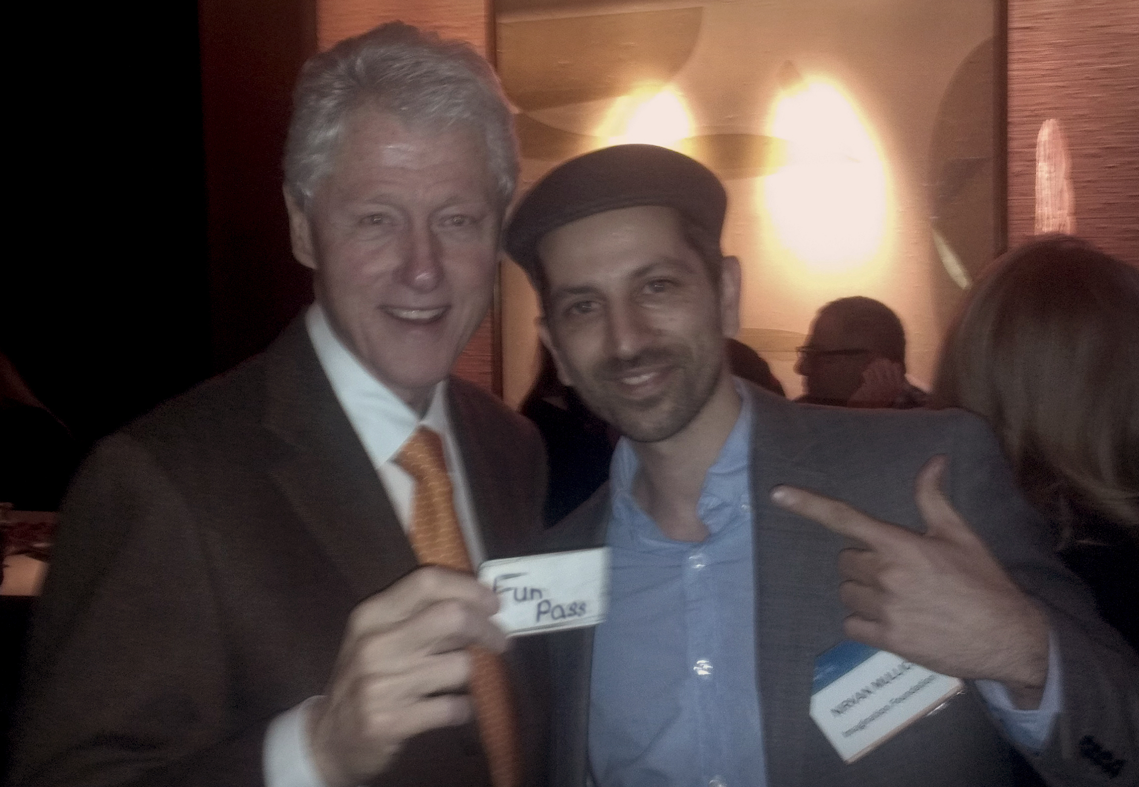 President Bill Clinton and Nirvan Mullick FunPass