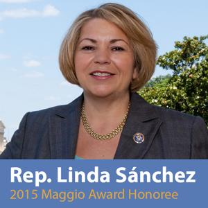 Linda Sanchez Immigrant's List Michael Maggio Award