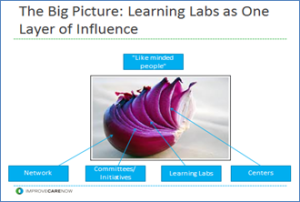 The big picture: Learning Labs and One Layer of Influence in ImproveCareNow