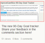 The new online 90 day goals tracker for ImproveCareNow centers to track and monitor their Improvement project goals and progress quarterly