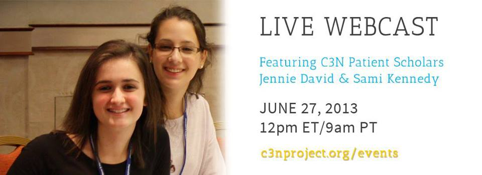 C3N ImproveCareNow Patient Scholars to participate in LIVE Webcast on June 27, 2013