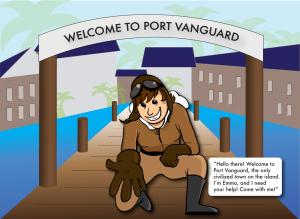 Emma App Screen Shot Welcome to Port Vanguard