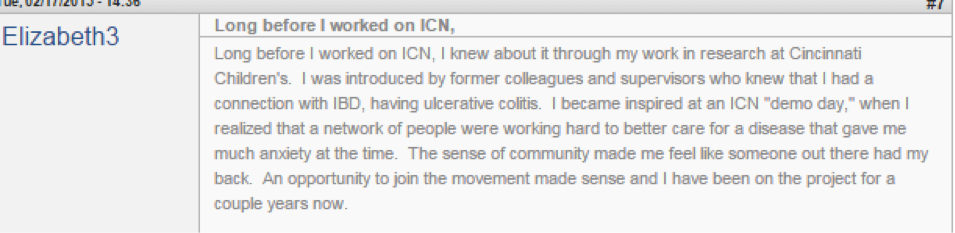 Elizabeth Monti shares her ICN story.