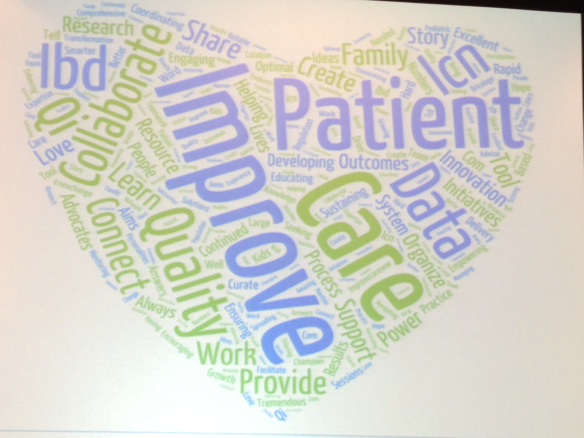 ImproveCareNow heart-shaped word cloud