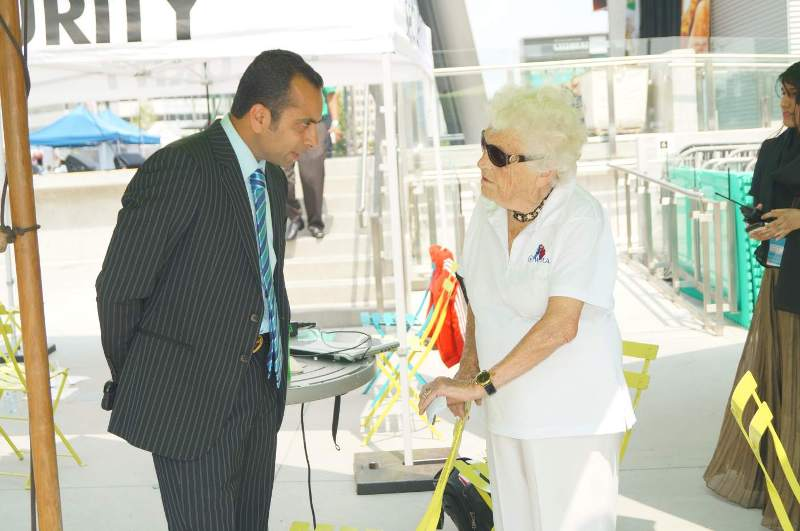 Imran Hasan with Hazel McCallion