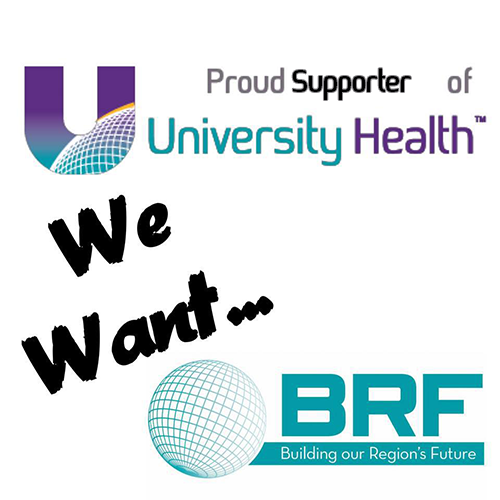 Proud Supporter We Want BRF
