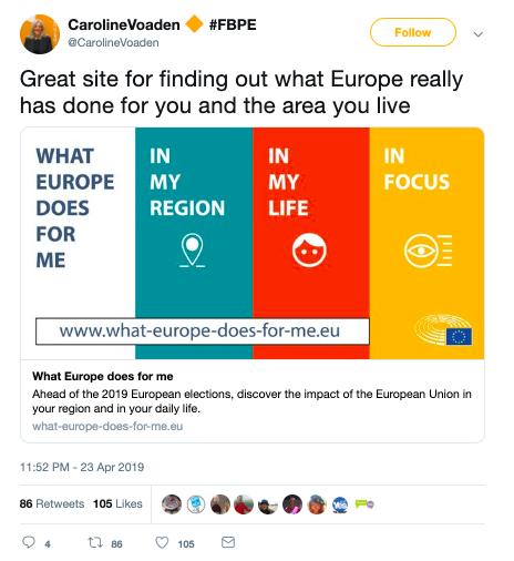 EU info tweet