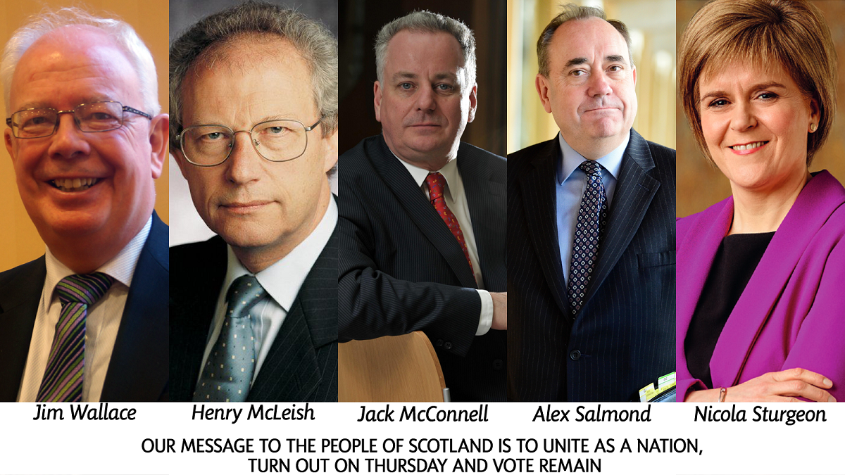 The Five First Ministers of Scotland