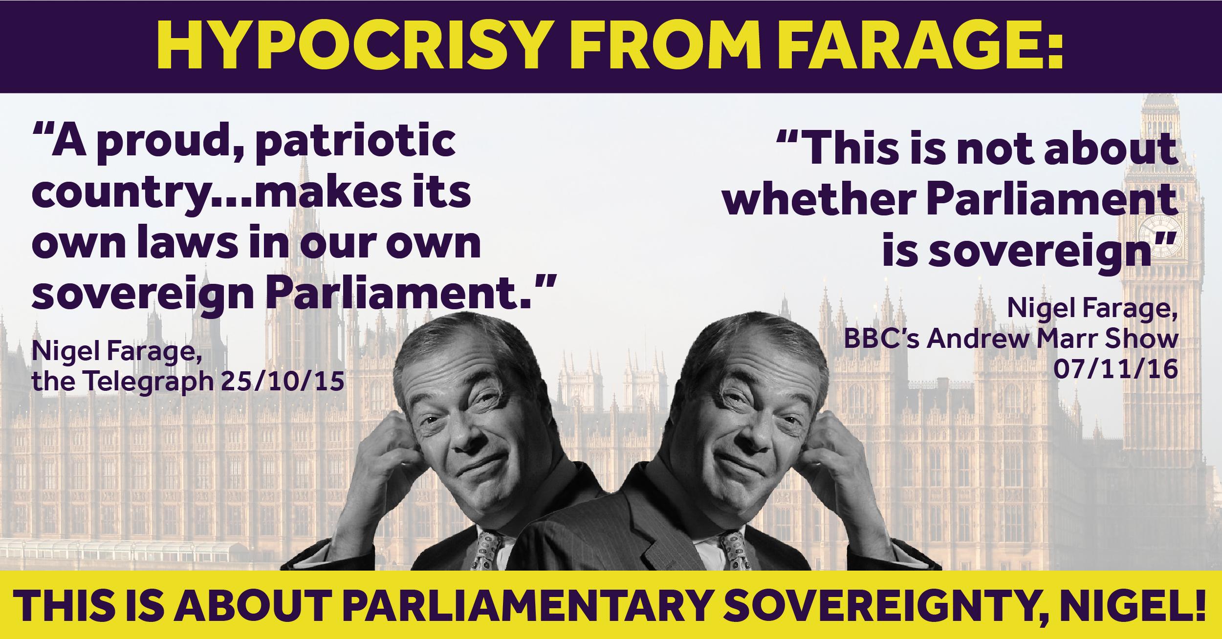 Nigel Farage hypocrisy