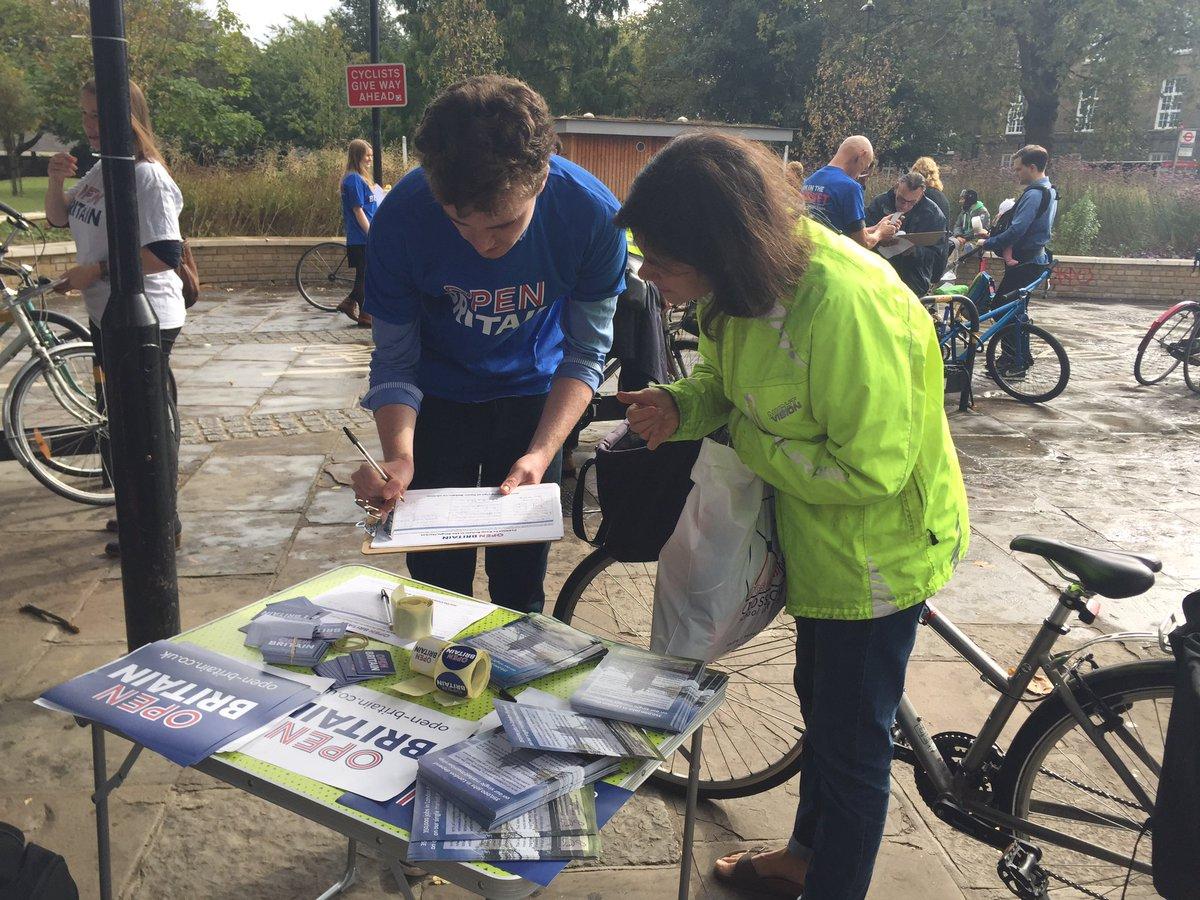 Volunteers campaigning