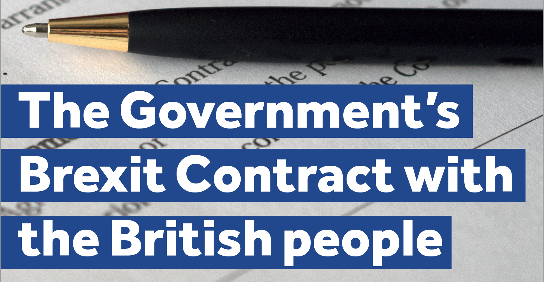 The Government's Brexit contract with the British public