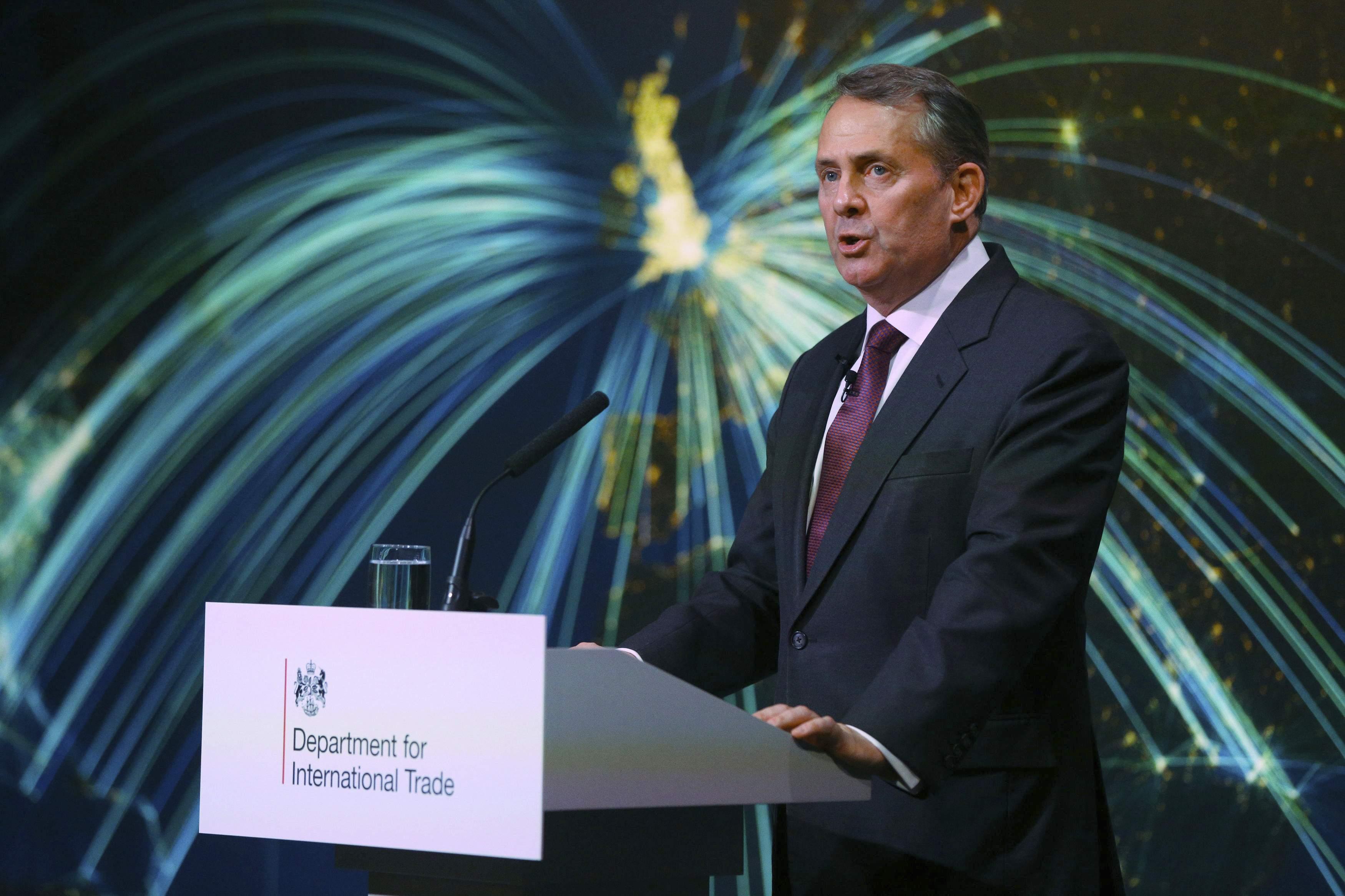 Background Briefing: Liam Fox Bloomberg Speecht