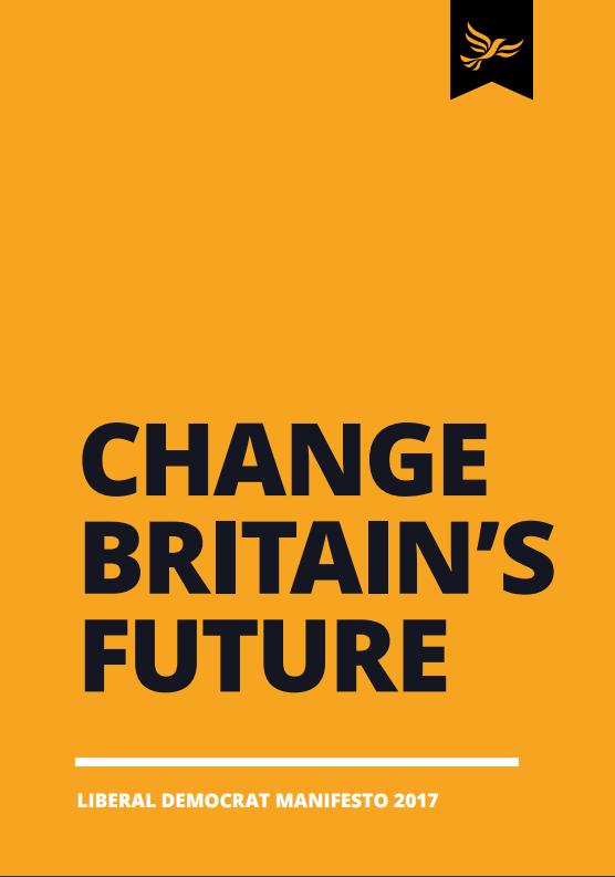 Open Britain Background Briefing: Liberal Democrat General Election Manifesto