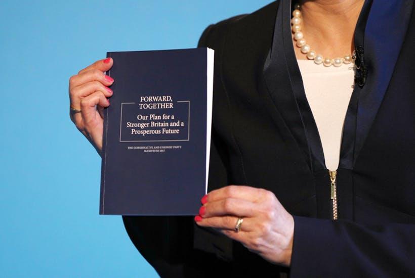Conservative Manifesto: backwards, alone