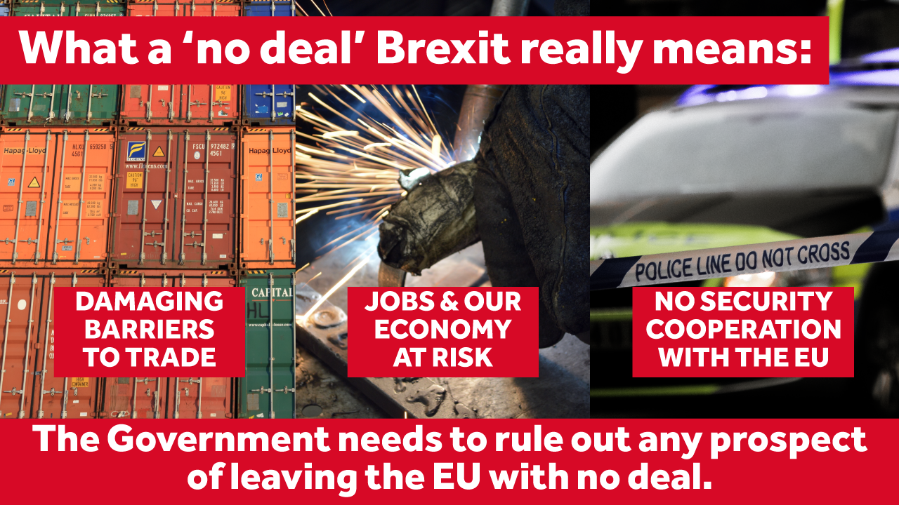5 Key questions which the Government needs to answer on a no Brexit deal