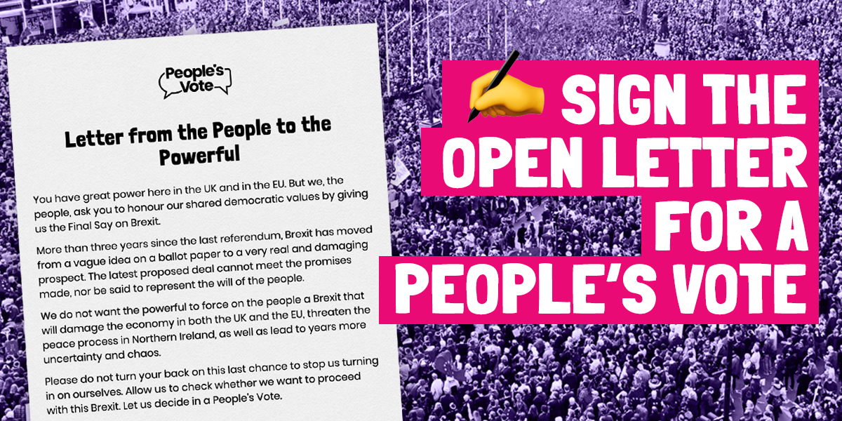 SIGN THE LETTER FROM THE PEOPLE TO THE POWERFUL