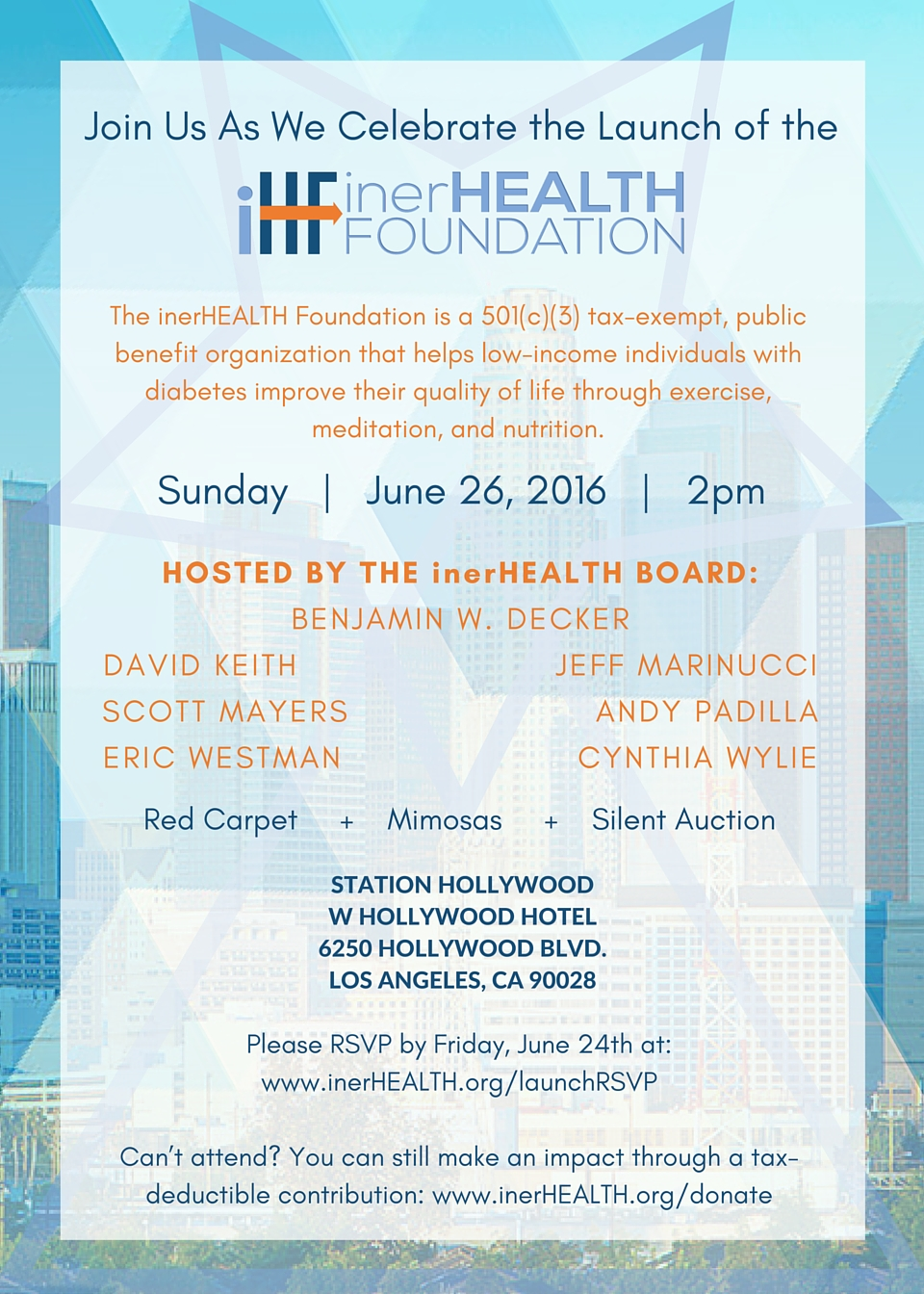inerHEALTH Launch Event Invitation