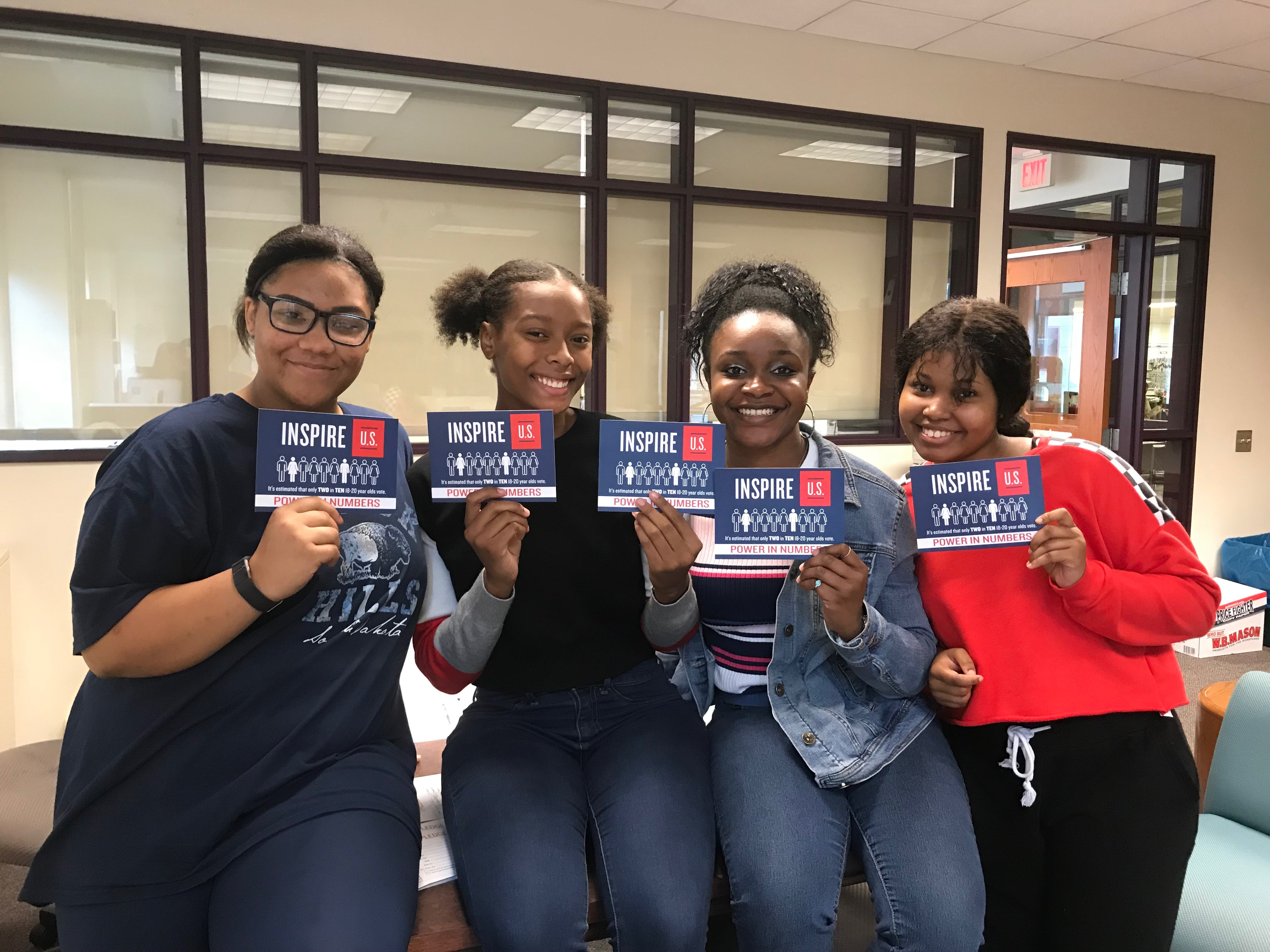 Inspired Leaders at CAPA in Pittsburgh host a voter registration drive in the fall!