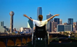 Dallas Medical Equipment Exchange - wheelchair overlooking the skyline