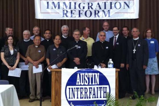 Jacob Cortes, Austin Interfaith, Catholic Bishop Joe Vasquez