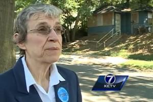 OTOC leader explains need for housing demolition in Omaha.  Lead Organizer: Joe Higgs