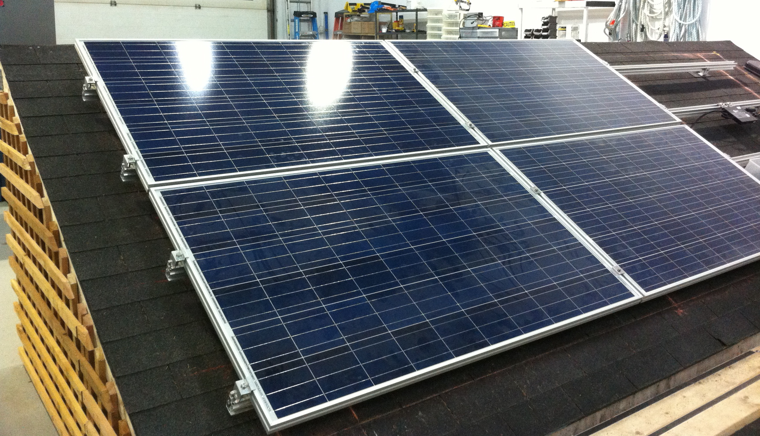 Gridworks Solar PV Course - Stand with oil sands workers