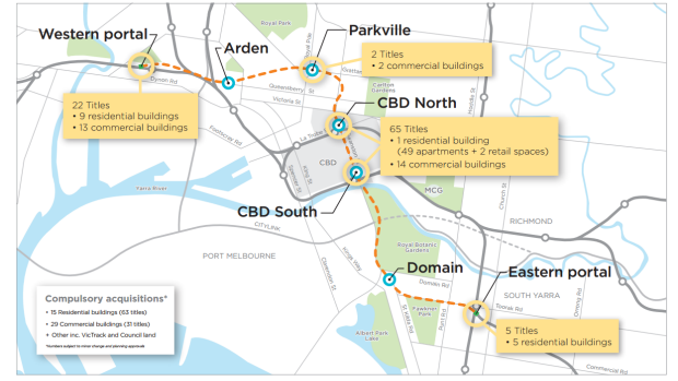 Metro Tunnel Project - Tunnels and Stations