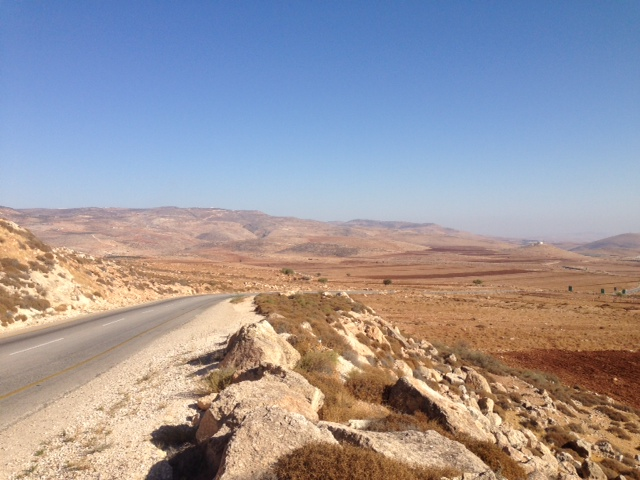 The Bkaot road in Jordan Valley