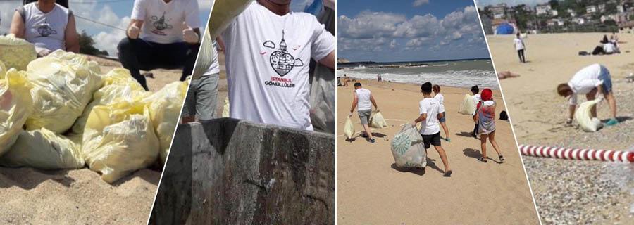 Arnavutköy Gönüllüleri Sahil Temizliği İçin Harekete Geçti