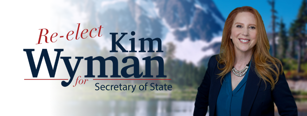 The re-elect Kim Wyman header.