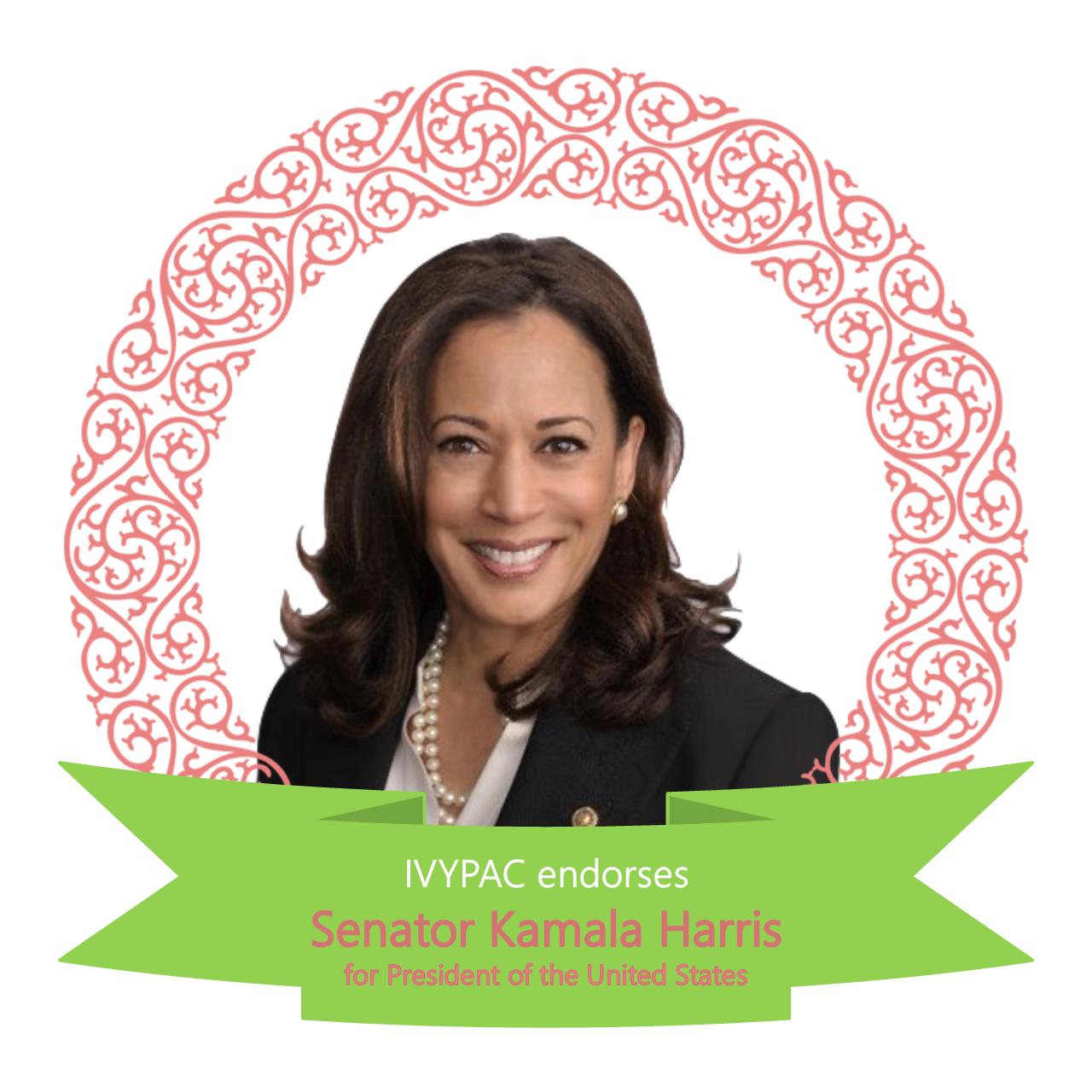 Ivypac Endorses First Candidate Of 2020 Election Cycle Senator Kamala Harris D Ca Ivypac