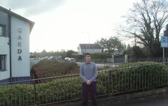 Jack Chambers, Fianna Fáil Area Representative, outside Blanchardstown Garda Station
