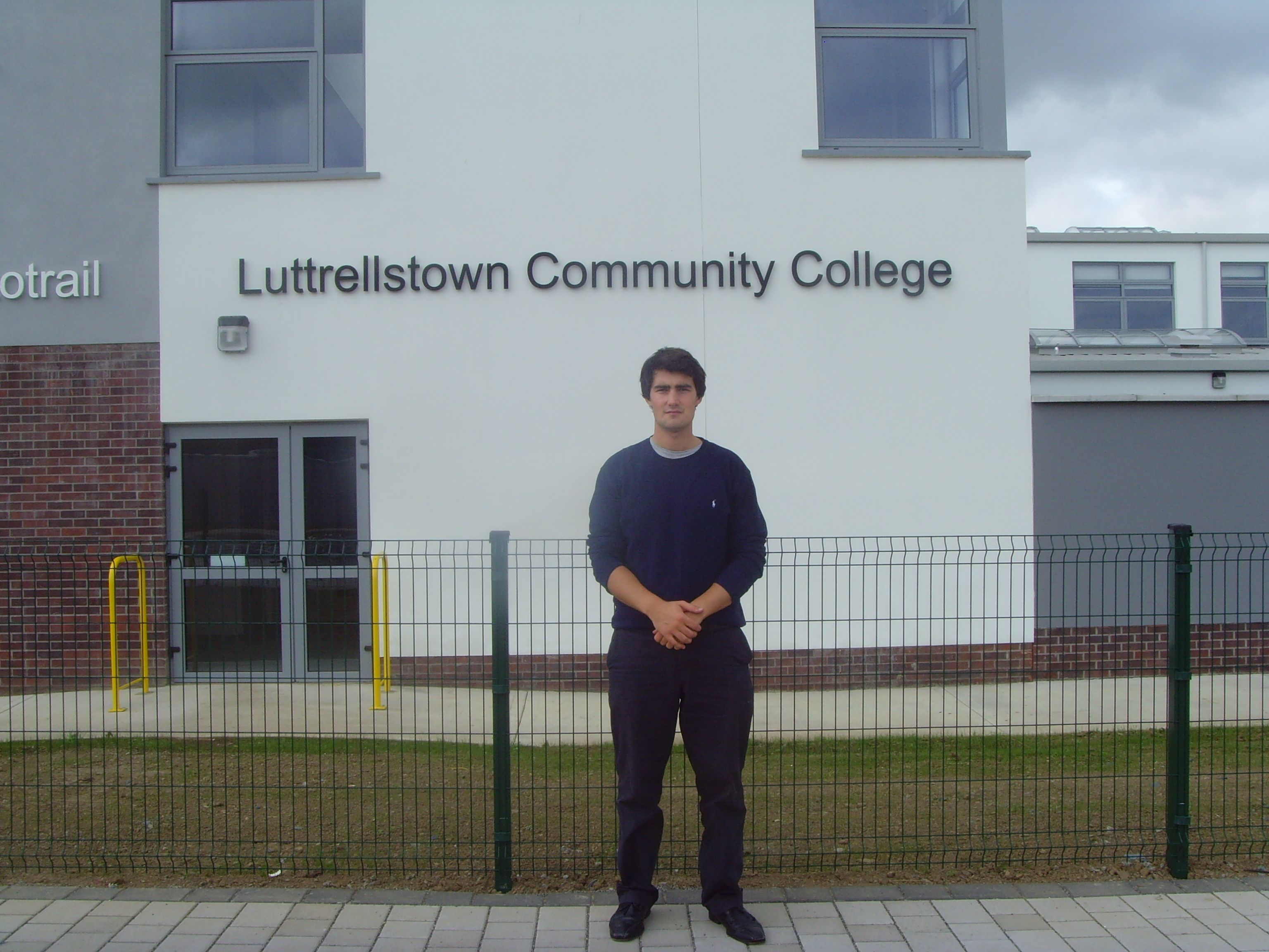 Jack Chambers outside Luttrelstown Community College
