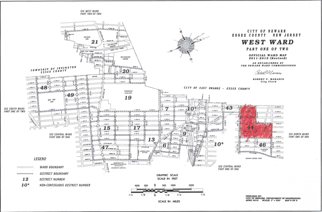 Map Showing Vote Concentration for JAERA in the West Ward (1 of 2)