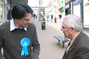 James listening to local people's views in Halesowen and Rowley Regis
