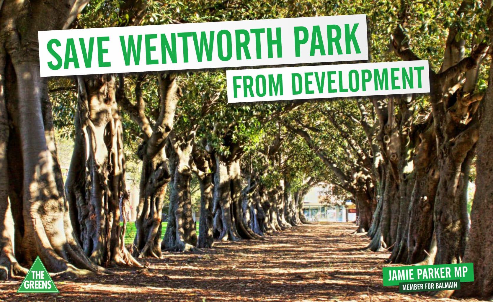 Save Wentworth Park - Jamie Parker MP