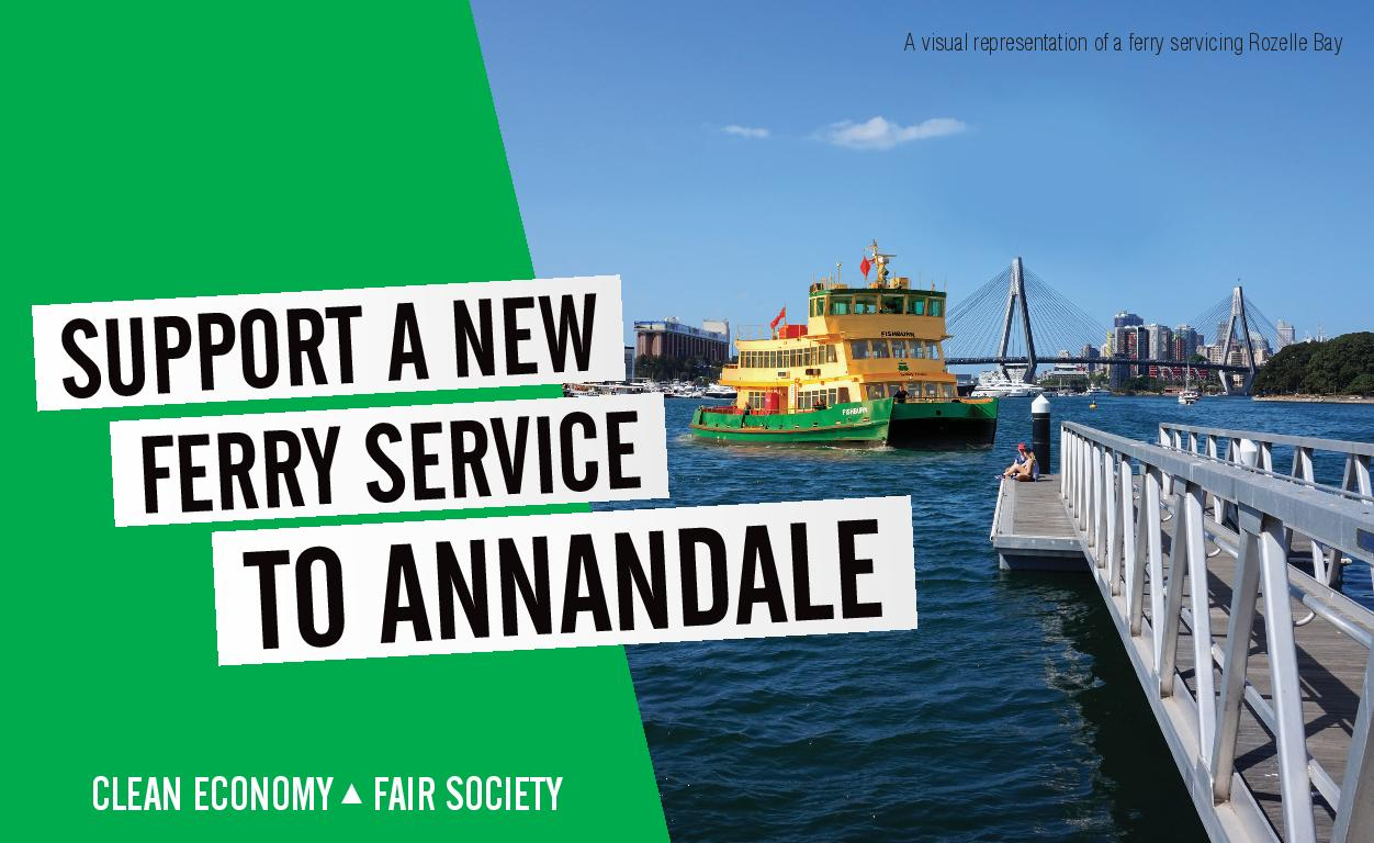 Annandale Ferry  - Jamie Parker MP