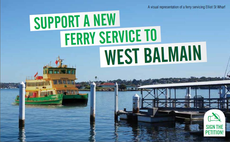 Vote for a ferry for West Balmain