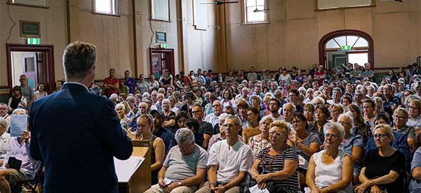 Rozelle Interchange Public Meeting - Jamie Parker MP