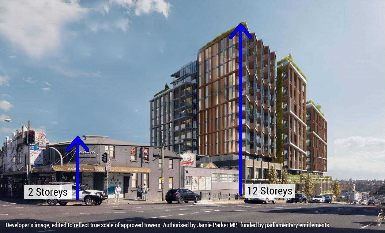 12 storey towers approved for former Balmain leagues site - Jamie Parker MP