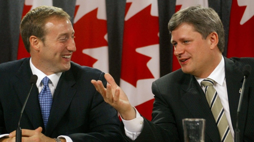 Stephen Harper and Peter Mackay