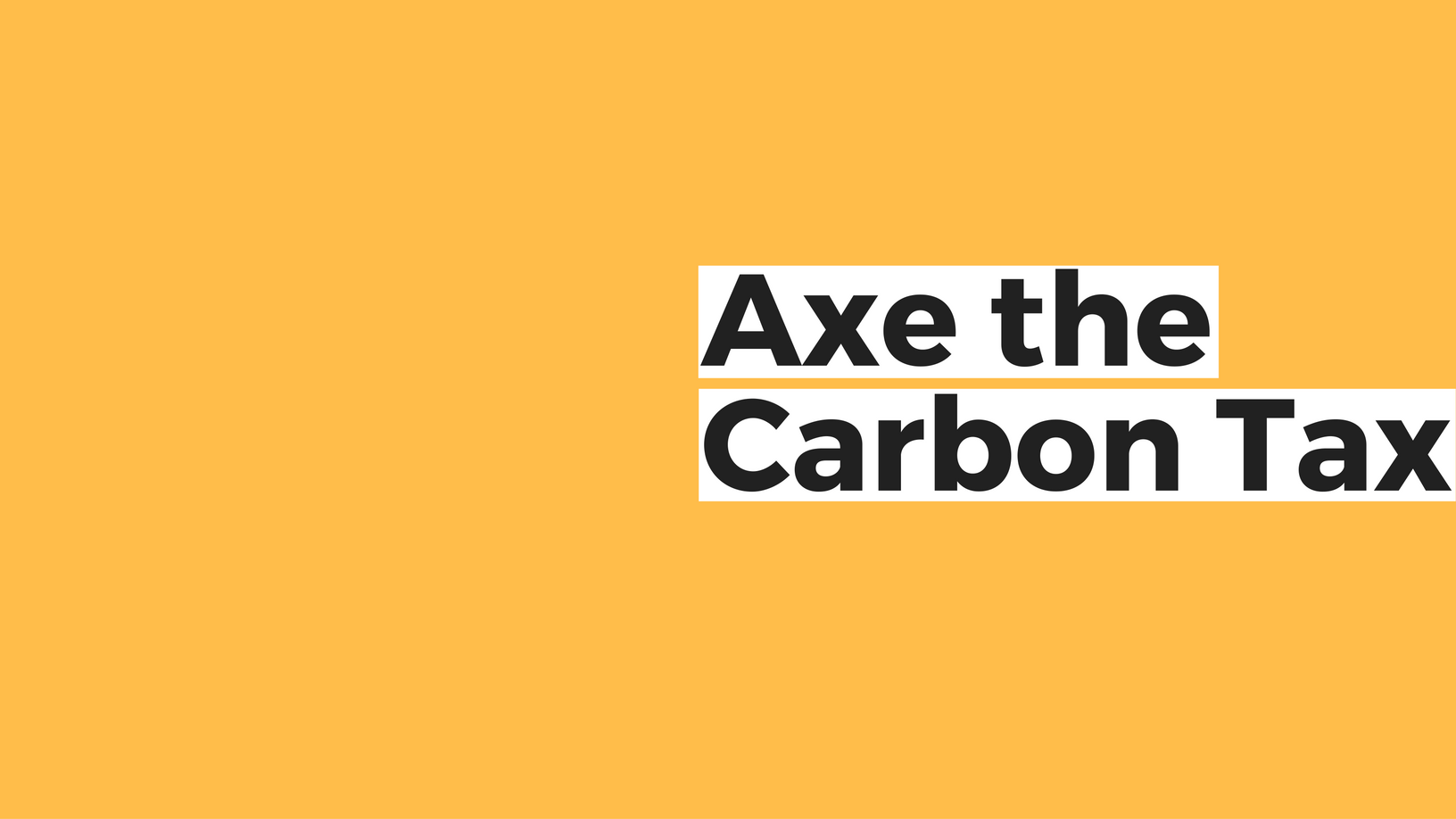 Tell the NDP to axe their job-killing carbon tax
