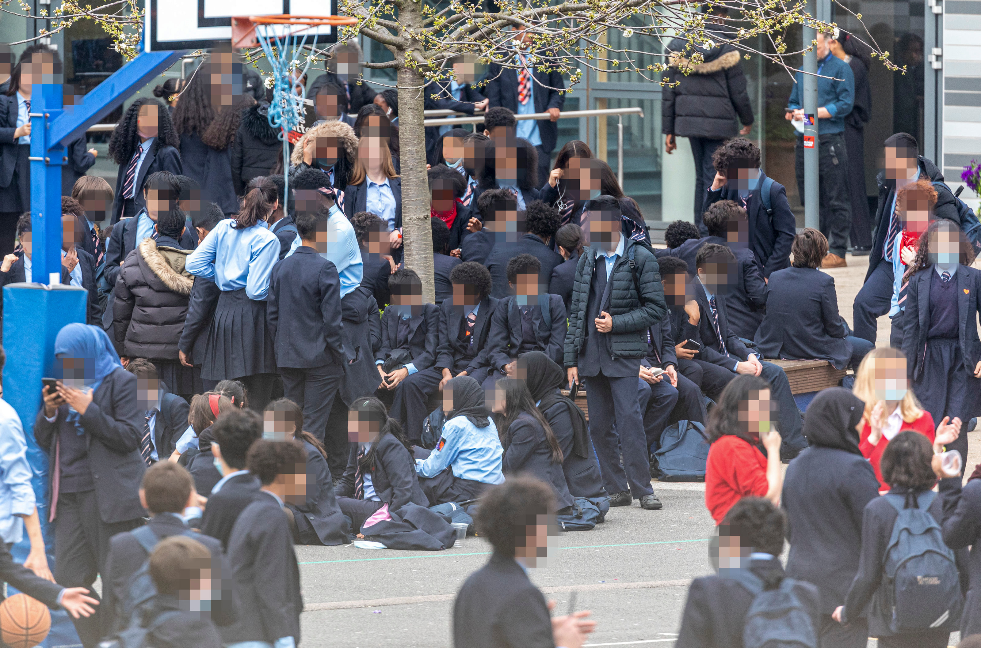 LNP School Demo ALE 02111 School demo in playground of Pimlico Academy Londonjpg JS644733218