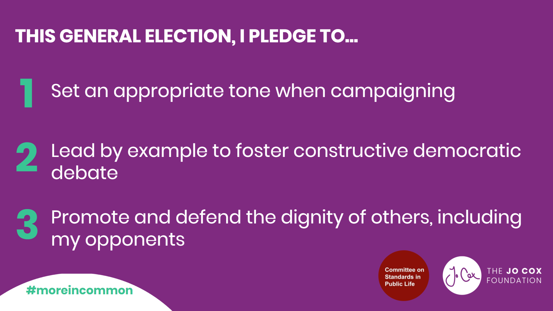Candidate Pledge General Election 2019