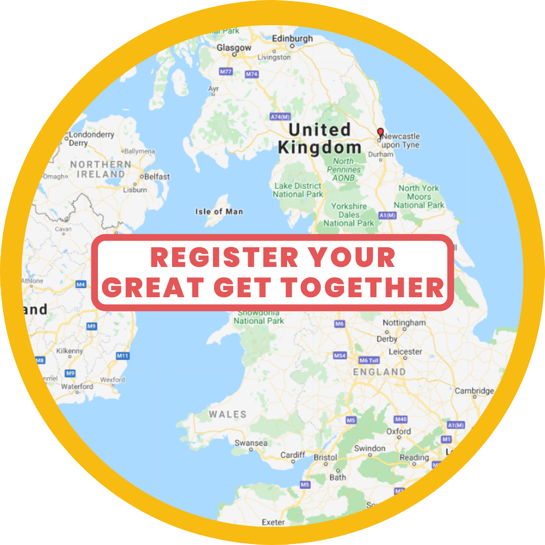 Map of UK with button - host your own event